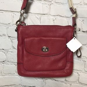 NEW Coach turnlock leather crossbody purse